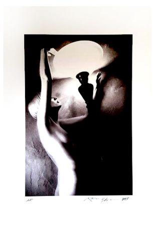 Lithographie Gibson - Portrait de Femme Nue