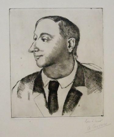 Eau-Forte Courmes - Portrait de Jean Briance