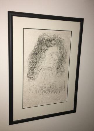 Eau-Forte Et Aquatinte Dali - Portrait De La Fontaine
