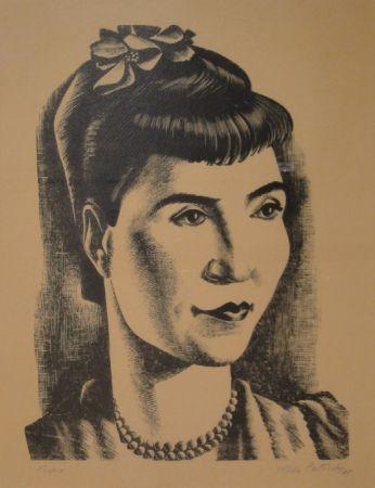 Gravure Sur Bois Patocchi - Portrait de Madame Vreni Bonizzi