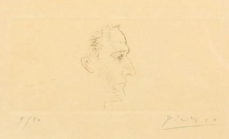 Pointe-Sèche Picasso - Portrait de Marcel Boudin