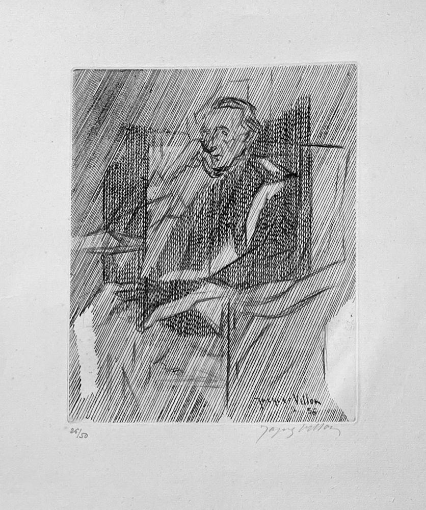 Gravure Villon - Portrait de Marcel Duchamps