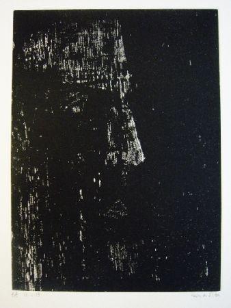 Gravure Vieira Da Silva - Portrait de René Char