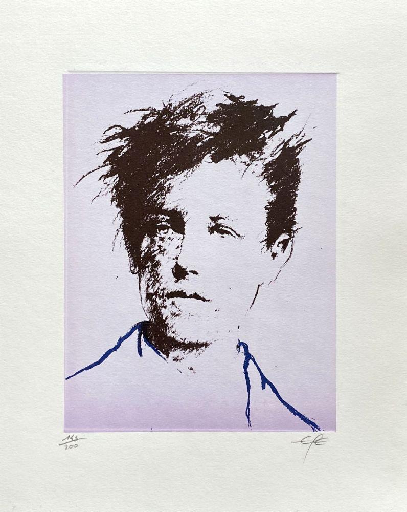 Lithographie Pignon-Ernest - Portrait de Rimbaud