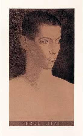 Gravure Marcoussis - Portrait de Serge Lifar