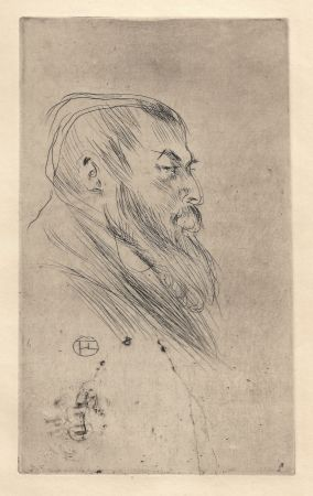 Pointe-Sèche Toulouse-Lautrec - Portrait de Tristan Bernard