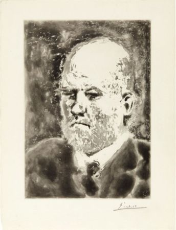 Aquatinte Picasso - Portrait de Vollard I