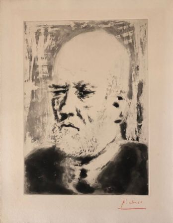 Aquatinte Picasso - Portrait de Vollard II