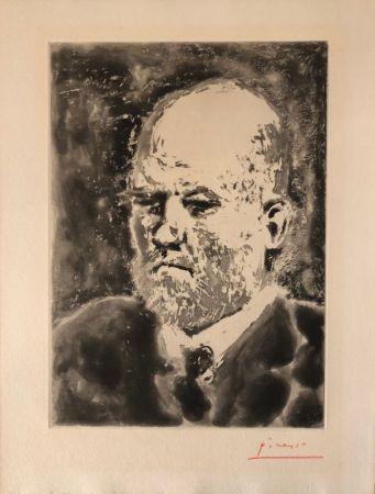 Aquatinte Picasso - Portrait de Vollard III