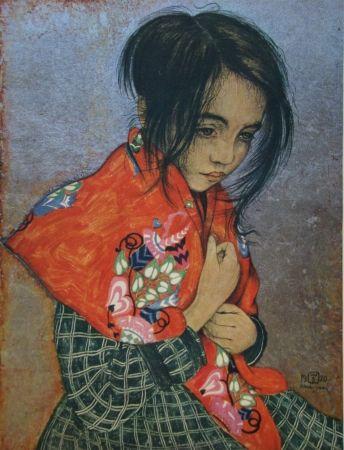 Gravure Sauer - Portrait d'enfant