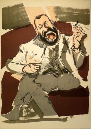 Lithographie Varlin (Guggenheim, Willy) - Portrait des Photographen Ernst Scheidegger