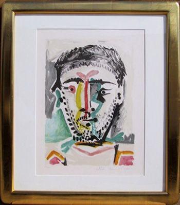 Lithographie Picasso - Portrait d'Homme