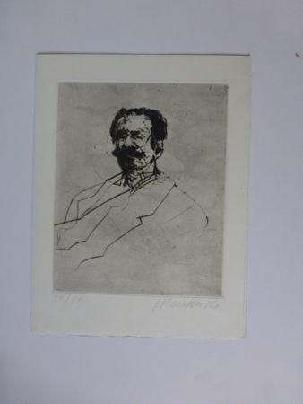 Gravure Weisbuch - Portrait d'homme