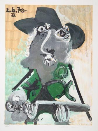 Lithographie Picasso - Portrait d'Homme Au Chapeau