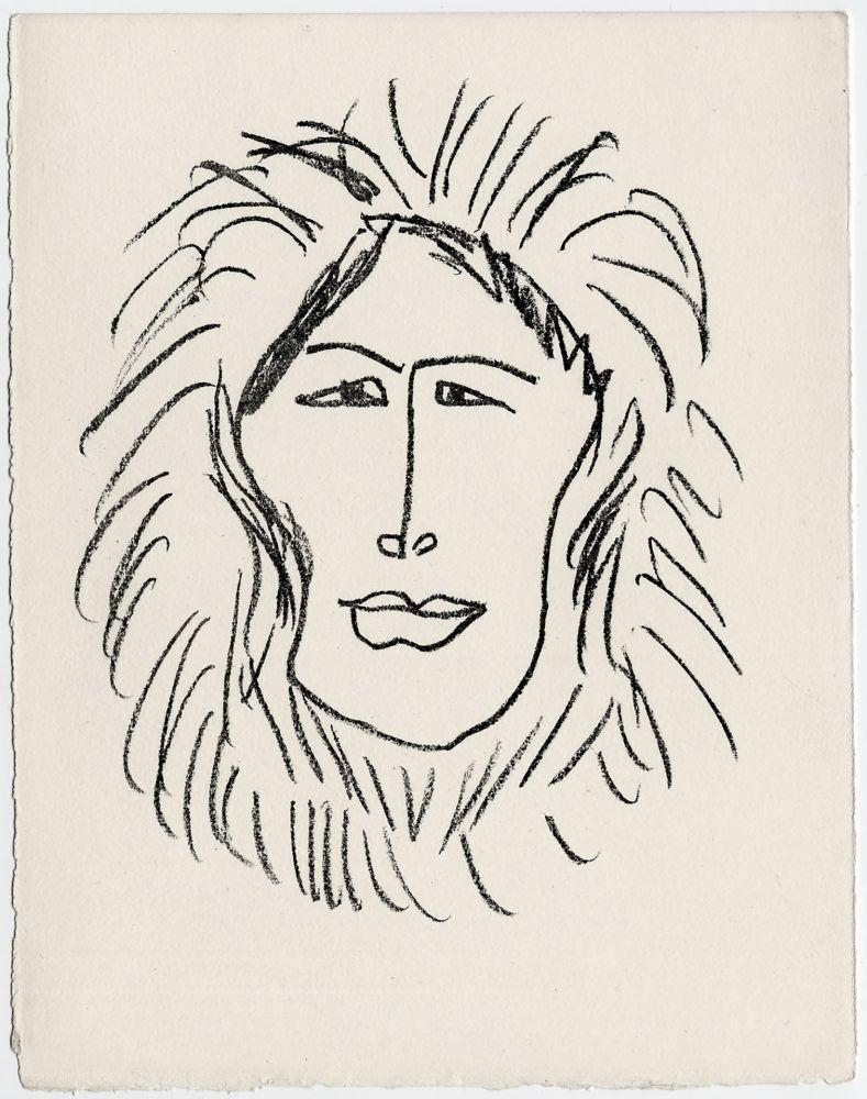 Lithographie Matisse - Portrait d'homme esquimau n° 1. 1947 (Pour Une Fête en Cimmérie)