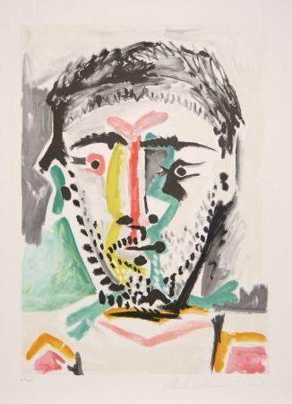 Lithographie Picasso - Portrait d'Homme, J-103
