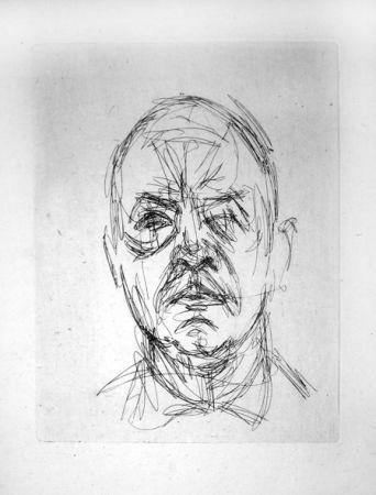 Gravure Giacometti - Portrait d'Iliazd