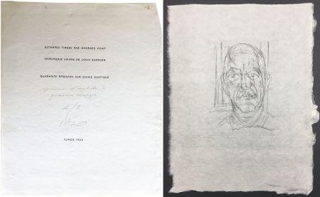 Pointe-Sèche Giacometti - Portrait du célèbre Orbandale (Ilia Zdanevitch dit Iliazd)