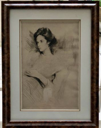 Eau-Forte Chahine -  Portrait d'une élégante