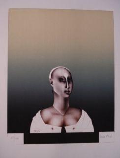 Lithographie Wunderlich - Portrait d'une dame