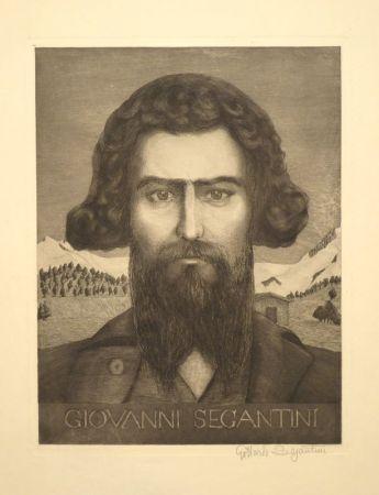 Gravure Segantini - Portrait Giovanni Segantini
