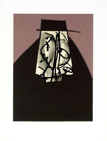 Lithographie Saura - Portrait I