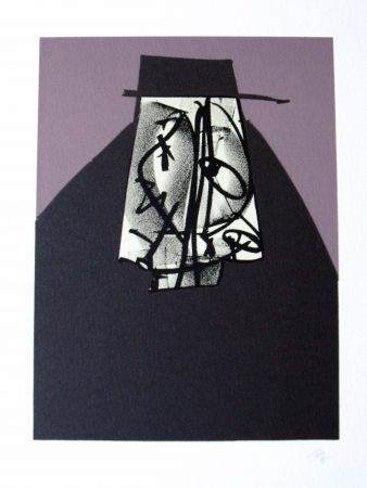Lithographie Saura - Portrait II