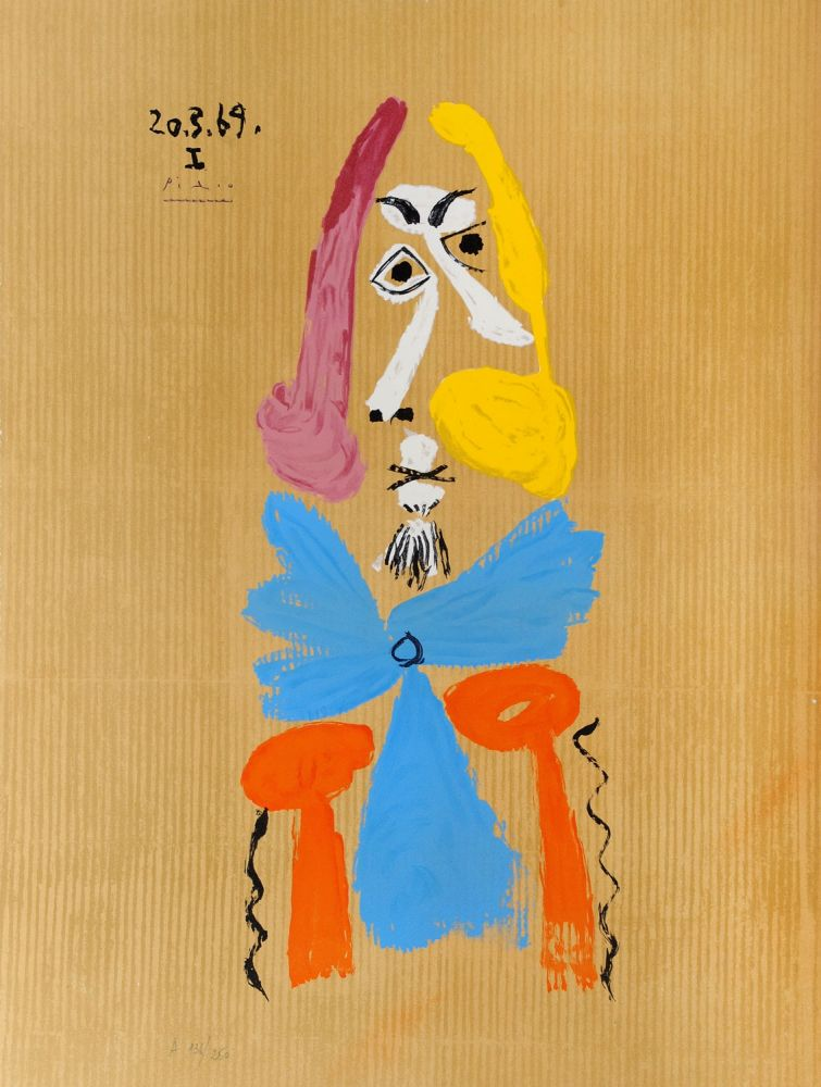 Lithographie Picasso - Portrait Imaginaire - 20.3.69. Ii