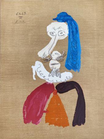 Lithographie Picasso - Portrait Imaginaire 6.4.69II