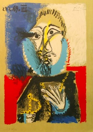 Lithographie Picasso - Portrait Imaginaires 27.2.69 III