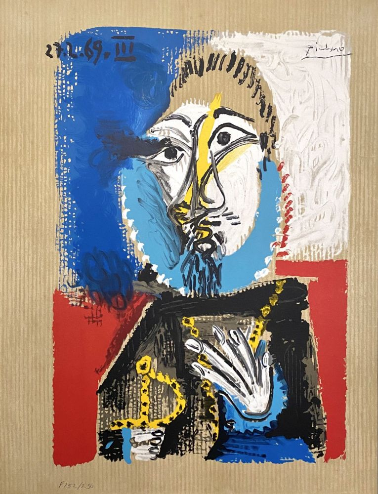 Lithographie Picasso - Portrait Imaginaires 27.3.69 III