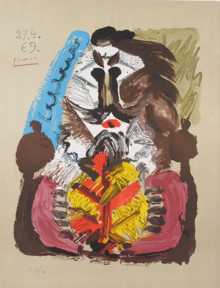 Lithographie Picasso - Portrait Imaginaires 27.4.69