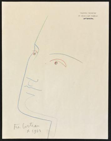Aucune Technique Cocteau - Portrait in Blue