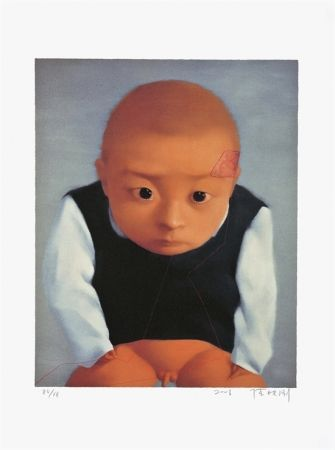 Lithographie Xiaogang - Portrait Of A Boy