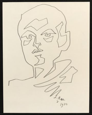 Aucune Technique Cocteau - Portrait of a Man