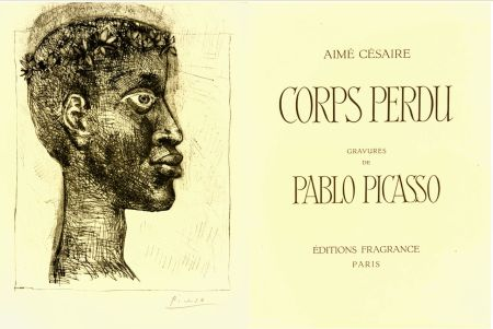 Gravure Picasso - Portrait of Aimè Cesare