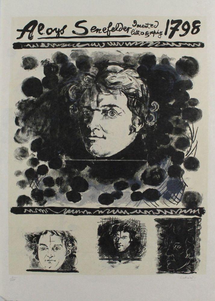 Lithographie Sutherland - Portrait of Aloys Senefelder