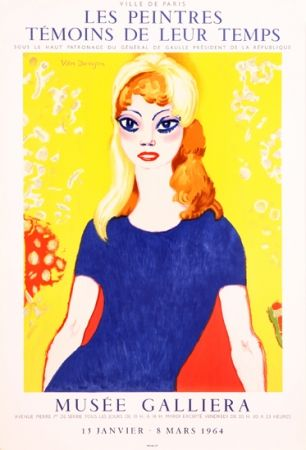 Lithographie Van Dongen -  Portrait of Brigitte Bardot, Musée Galliera