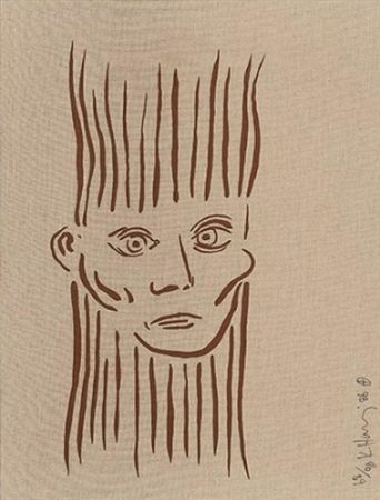 Sérigraphie Haring - Portrait of Joseph Beuys