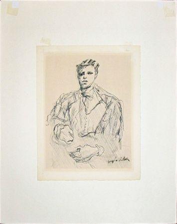 Gravure Villon - Portrait Of Rimbaud