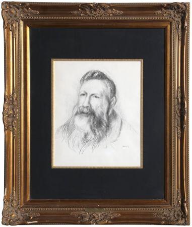 Lithographie Renoir - Portrait of Rodin