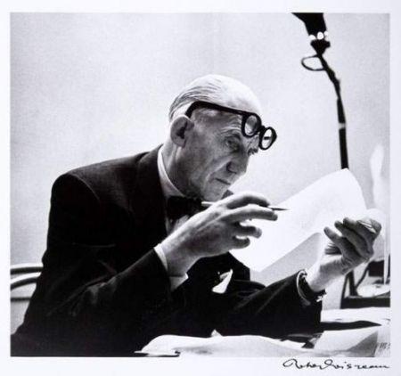 Photographie Le Corbusier - Portrait par Robert Doisneau