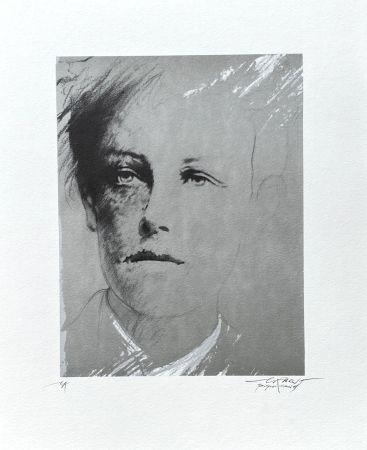 Lithographie Pignon-Ernest - Portrait Rimbaud