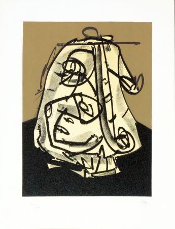 Lithographie Saura - Portrait V