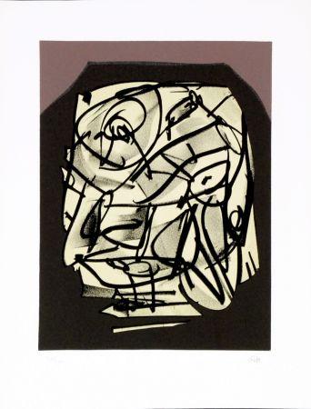 Lithographie Saura - Portrait VI