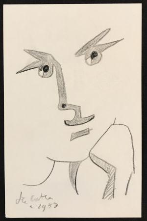 Aucune Technique Cocteau - Portrait with Hand to Chin