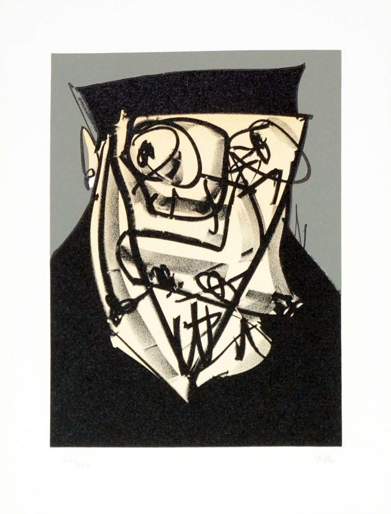 Lithographie Saura - Portrait XIV