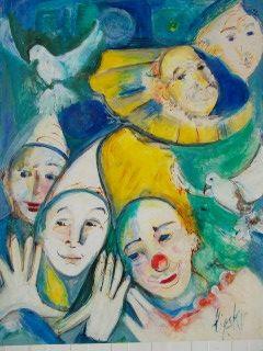 Aucune Technique Lipsky - Portraits de Clowns