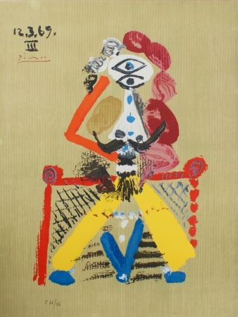 Lithographie Picasso - Portraits Imaginaires 12.3.69 III SOLD