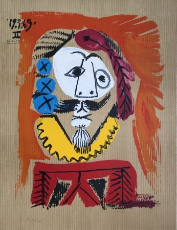 Lithographie Picasso - Portraits Imaginaires 19.3.69 II